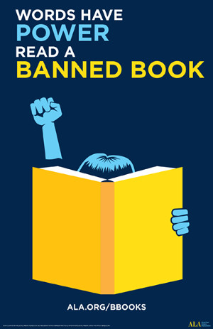 Words Have Power Banned Books Week Graphic
